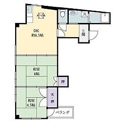 リバティーサクライ[3階]の間取り
