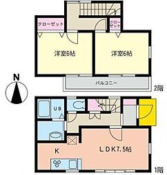 [テラスハウス] 神奈川県横浜市泉区下飯田町 の賃貸【/】の間取り