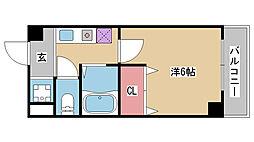兵庫県神戸市兵庫区永沢町2丁目の賃貸マンションの間取り