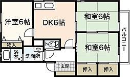 サニーハイツC棟[2階]の間取り