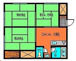 茨城県古河市東牛谷の賃貸アパートの間取り