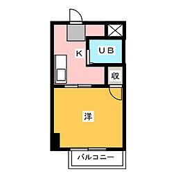 PLEAST箱崎[3階]の間取り
