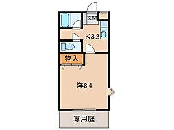 グリーンフル福島[1階]の間取り