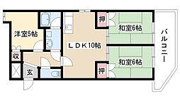 愛知県名古屋市天白区植田南2丁目の賃貸マンションの間取り