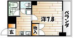 ヨークス本城[4階]の間取り