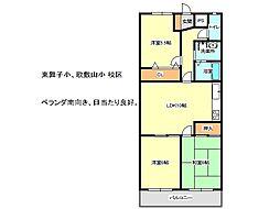 兵庫県神戸市垂水区舞子台6丁目の賃貸マンションの間取り