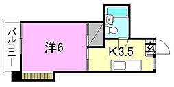 メゾン北斗[202 号室号室]の間取り