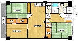 みゆきパークマンション B棟[212号室]の間取り