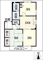 ビューテラスSHINMEI・C[2階]の間取り