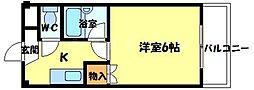 ジュネスTUKUMO[2階]の間取り