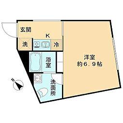 The KOISHIKAWA(ザ小石川) 4階1Kの間取り