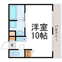 オーラ・コート杭瀬[3階]の間取り