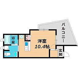 Osaka Metro谷町線 太子橋今市駅 徒歩3分の賃貸アパート 1階ワンルームの間取り