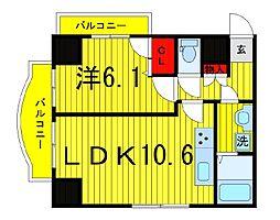ジェノヴィア浅草駅前スカイガーデン[2階]の間取り