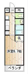 アムール横須賀中央[201号室]の間取り