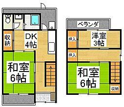 [一戸建] 京都府京都市右京区西院乾町 の賃貸【/】の間取り