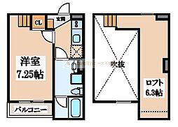 大阪府堺市堺区永代町2丁の賃貸アパートの間取り