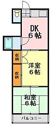 サンコーポ蘇我[3階]の間取り