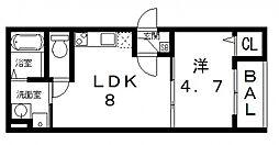 ルネッサ八尾南[302号室号室]の間取り