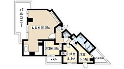 Ns21やごと B棟[6階]の間取り