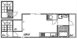 プランドール西二見[2階]の間取り