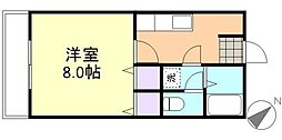 倉敷倶楽部[2階]の間取り