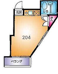 埼玉県草加市青柳8丁目の賃貸アパートの間取り