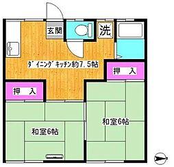 大森荘[2階]の間取り