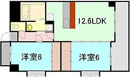 ボヌールタカキ[2階]の間取り