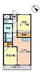 長崎県諫早市高来町溝口の賃貸アパートの間取り
