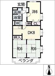 ア・ドリーム北仙房[2階]の間取り