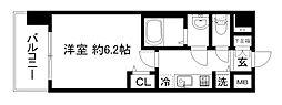 プレサンス京都鴨川[2階]の間取り