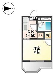 パークハイツ江尻[3階]の間取り