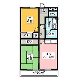 佳千ビルII[3階]の間取り