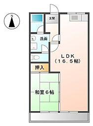 ハインスハイムII[2階]の間取り