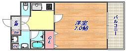 アーバネックス神戸六甲[407号室]の間取り