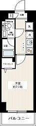 REZXY西川口AZIII(レグジーニシカワグチAZIII) 3階1Kの間取り
