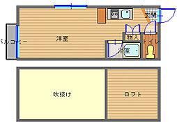 長崎県長崎市立山2丁目の賃貸アパートの間取り