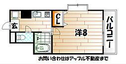 リファレンス小倉北[3階]の間取り