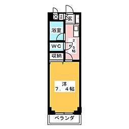 フローラル山王台[2階]の間取り