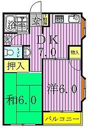 ハウス1001[203号室]の間取り