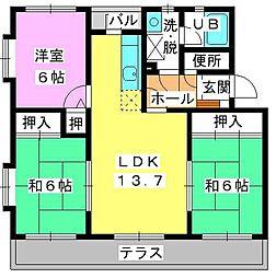 シャルマン観世Ⅲ[1階]の間取り