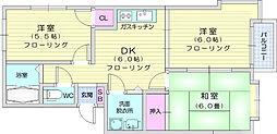 JR東北本線 南仙台駅 徒歩15分の賃貸アパート 1階3DKの間取り