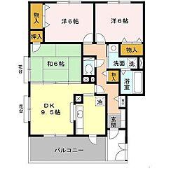 [テラスハウス] 兵庫県神戸市垂水区西舞子7丁目 の賃貸【兵庫県 / 神戸市垂水区】の間取り