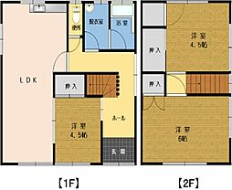 [一戸建] 鳥取県境港市上道町 の賃貸【/】の間取り