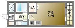コンフォデンス北堀江[4階]の間取り