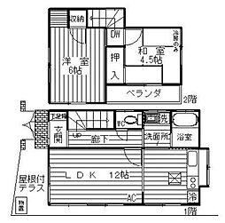 [一戸建] 神奈川県相模原市南区若松1丁目 の賃貸【/】の間取り