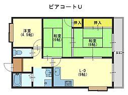 ピアコートU[5階]の間取り