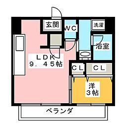 SOZOSYA Mビル[5階]の間取り