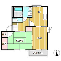 ラ・フォーレ長野[2階]の間取り
